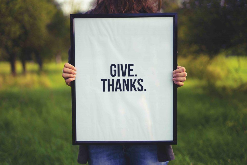 Non denominational churches giving thanks to god